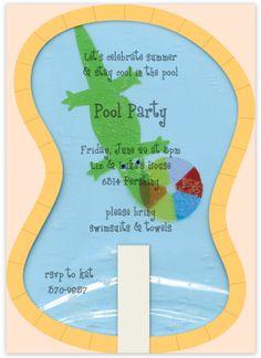 Splashing Pool Party Invitation by Meri Meri Partyware