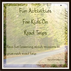 Fun Activities for Kids on Road Trips