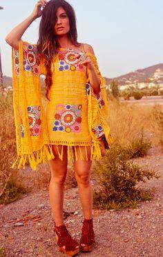 summer boho chic, crochet dresses, poncho, boho crochet dress, colors, outfit, hippie boho style, shoe, dresses hippie