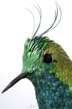 Wire-crested Thorntail Made of paper by José Suris the Fourth