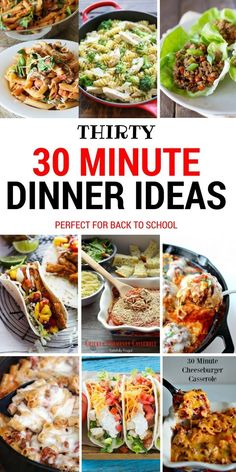 Thirty Dinner Ideas