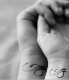 The letters e and j. Couples tattoo