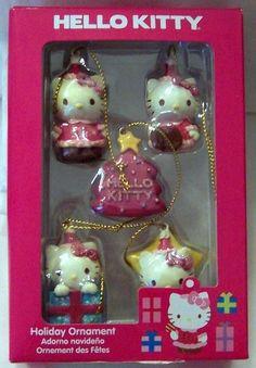 Hello Kitty 5 Piece Mini Christmas Ornament Set New $18.99