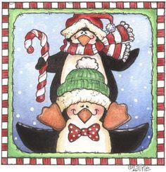 clipart, christma penguin