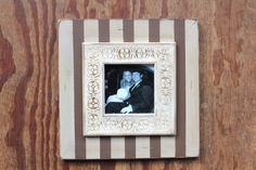 Stripe 5x5 Embossed Distressed Picture Frame