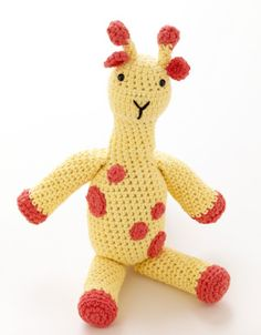 Toy Giraffe  - Free Pattern (click Instructions)