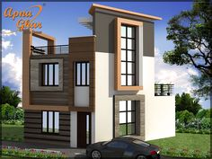 Looking for a perfect designing for your #smallduplex #DuplexHouseDesign  Looking for Small House Design!!!  View the Floor Plan here: http://www.apnaghar.co.in/house-design-430.aspx  Call Toll-Free No.- 1800-102-9440 Email: support@apnaghar.co.in