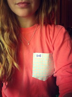 ahh the frat collection pocket shirt! Would be super cute with a monogram!