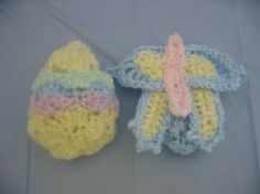 Easter Egg Inside-Out Into a Butterfly Free Crochet Pattern