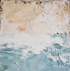 Calm Sea - Original abstract painting, Impasto Painting 10x10 Inch