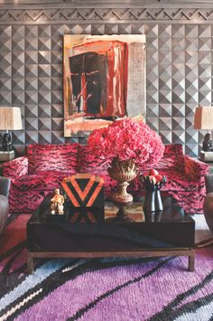 studded wall. Kelly Wearstler Residential #kellywearstler #interiordesign #luxuryinteriors #lifestyle #decor