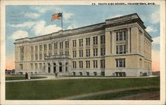 vintage youngstown ohio - South High School Postcard.