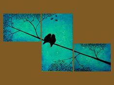 Love Birds...wanna paint something like this!