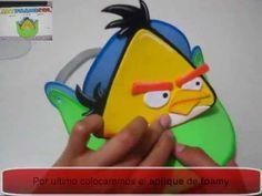 VISERAS EN FOAMY O GOMAEVA PERSONAJES ANGRY BIRDS PARA FIESTAS INFANTILES CON MOLDES O PATRONES