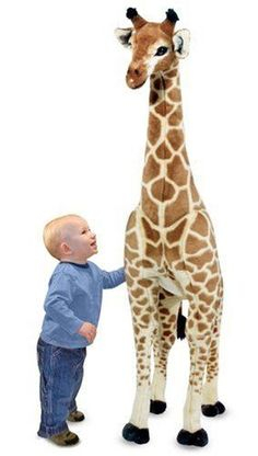 Love Melissa & Doug stuffed toys! The giraffe is just too cool.