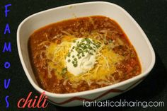 Your friends and family will rave about your fabulous chili when you make this Famous Chili #beef #chili #recipe chili recipes, beef chili recipe, famous chili