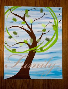 Personalize your Family Tree or Wedding Guest by 90DegreeAngle--- too cute :)