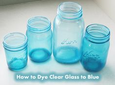 How to Dye Clear Glass to Blue