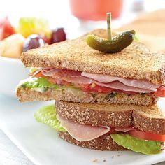 Prosciutto, Lettuce, and Tomato Sandwiches - More low cal #sandwich meals