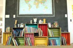 DIY Crate Bookshelf | Pallet Furniture DIY