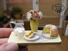 Miniature Dollhouse Patisserie Sweets Board IX. €19.00, via Etsy.