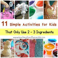 Simple Activities for Kids kid activities, activities for kids, toddler activities