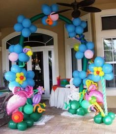 parti decor, grand entrance, theme parties, alice in wonderland, balloon decorations