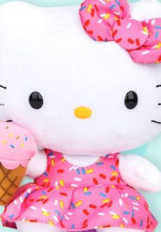 Adorable #HelloKitty Sprinkles plush... take a peek at http://www.sanrio.com/deals