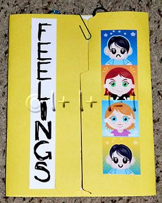 Printable 'Feeling' for kids All about me Study Unit.