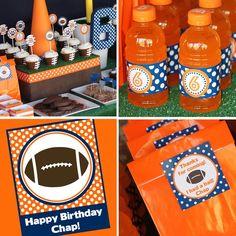 Football Party  Birthday  Printable Football by AmandasPartiesToGo, $22.00