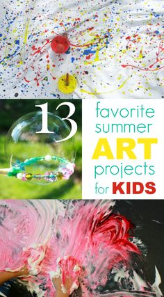 Great list of favorite summer art projects and activities for kids!!