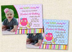 Owl Birthday Party Invitations by LollipopPrints on Etsy, $12.00