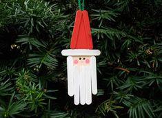 Craft Stick Santa Ornament