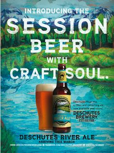 Introducing our session beer with craft soul, Deschutes River Ale.
