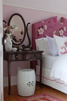 vaniti, sarah hous, girl bedrooms, bed headboards, upholstered headboards