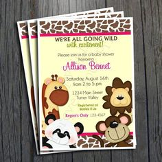 Jungle Baby Shower Invitation  FREE Thank You by ForeverYourPrints, $15.00