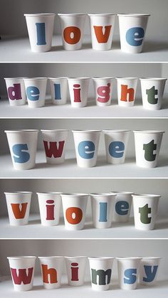 diy alphabet cups