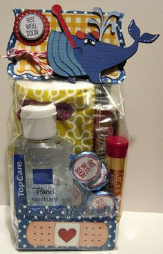 get well (whale) kit gift bags, whale, get well basket, gift idea, well gift