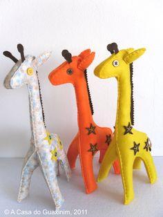Stuffed felt giraffe