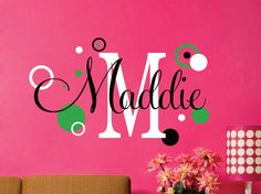 Childrens Wall Decals  Wall Decals Nursery  Name Wall by LucyLews
