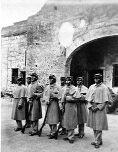 Native american prisoners in uniform at St augustine fl 1875 by windonthewater, via Flickr