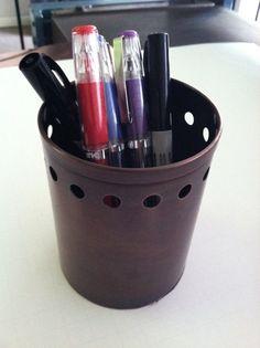 Copper pencil holder