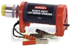 PowerPro HD 12V Starter by Hangar 9. $38.58. Heavy-Duty Super Starter Starts up to 1.8 cubic inch engines Extra-torque 12V DC motor For airplanes, helicopters, cars or boats Aluminum drive cone with rubber insert Extra-long cord with battery clips