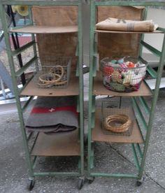 Vintage Industrial Metal Bread Carts Mint Green  Etsy at vagabondsandcaravans