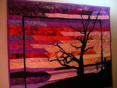 Art Quilts - Online Quilt Show - Art Quilts - Landscape Quilts in the About Quilting Galleries - Pacific Sunrise
