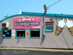 oink's ice cream, new buffalo, michigan