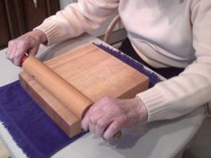 Caregiver Tip: Rolling pin exercises!! I used this for Mommy's physical therapy in her own home! Play soft music in the background and cheer them on...it's a great idea for someone with dementia or Alzheimer's.
