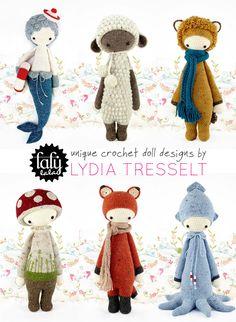 Emma Lamb shared the Lalylala #crochet dolls bygraphic and textile designer Lydia Tresselt who sells the patterns