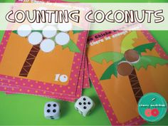 Fun counting game for preschool and kindergarten.  Or addition game for kindergarten and 1st Grade.