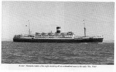 SS Kampala at Sea c1950